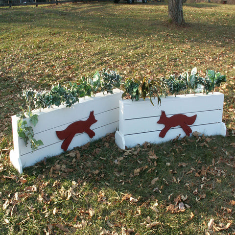 Fox Brush Box Wood Horse Jumps Set/2 - Platinum Jumps