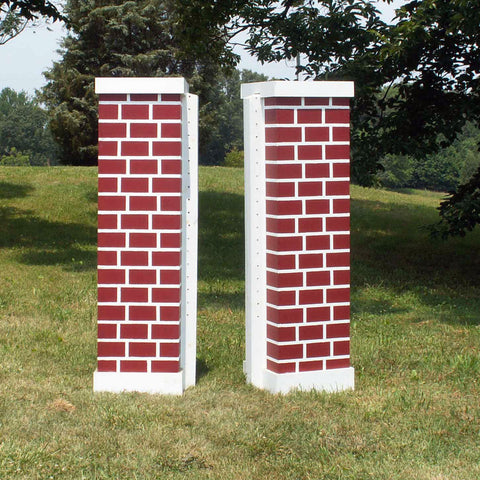 Brick Column Standards Wood Horse Jumps 2 Heights - Platinum Jumps
