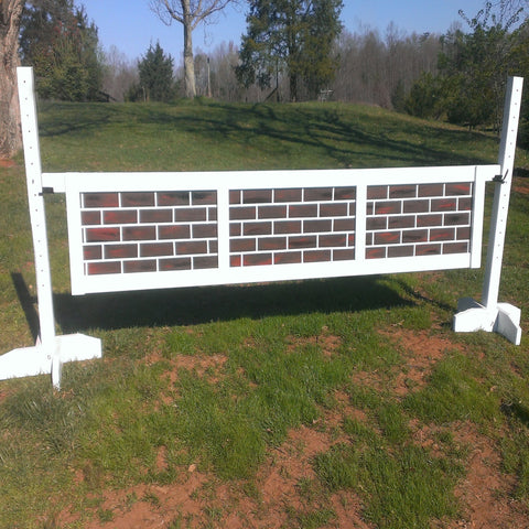 3 Panel Brick Pattern Gate Wood Horse Jumps - Platinum Jumps