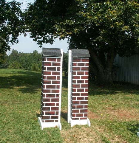 Skinny Brick Column Standards Wood Horse Jumps - Platinum Jumps