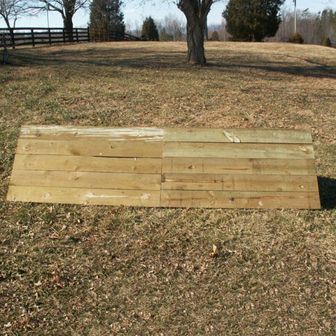Coop Wood Wall Horse Jumps Set/2 - Platinum Jumps