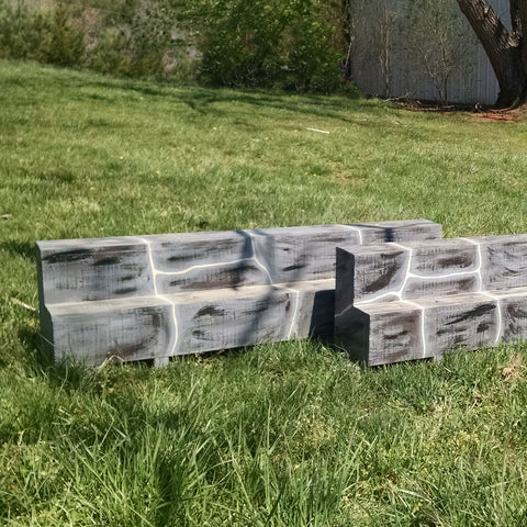 Double Decker Stone Flower Box Horse Jumps Set/2