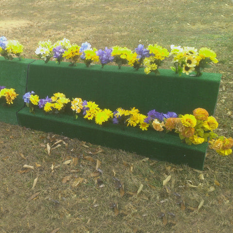 Double Decker Turf Flower Box Horse Jumps Set/2 - Platinum Jumps