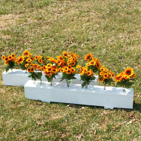 Flower Box Horse Jumps Set/2 White - Platinum Jumps