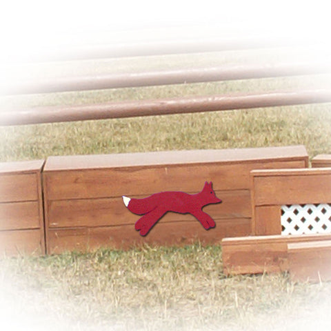 Pine Wood Fox Box Wall Wood Horse Jumps Set/2