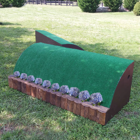 Flower Ledge Roll Top Horse Jumps Set/2 - Platinum Jumps
