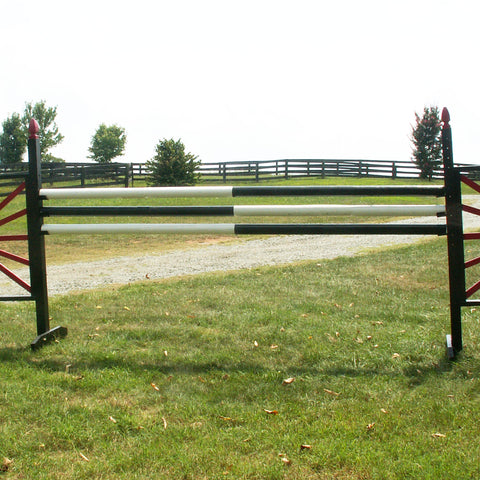 Half & Half Colored Cut Rails/Poles Wood Horse Jumps - Platinum Jumps