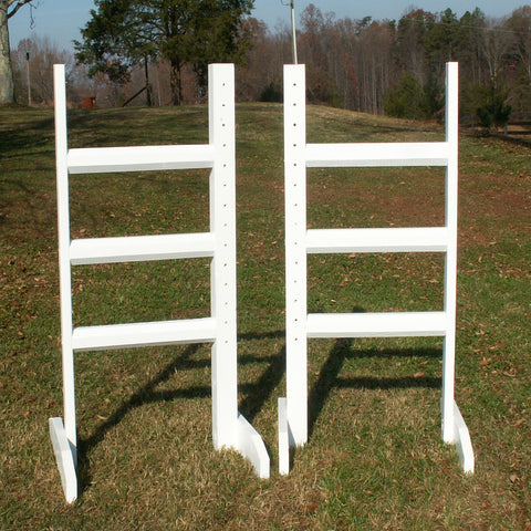Horizontal Rail Wood Wing Standards Horse Jumps - Platinum Jumps