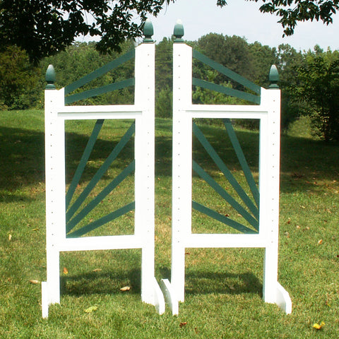6ft Slant Picket Fan Jumper Wing Standards Horse Jumps #251 - Platinum Jumps