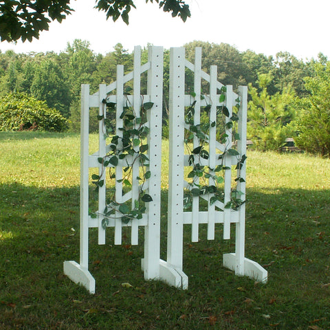 6ft Trellis Jumper Wing Standards Horse Jumps #252 - Platinum Jumps