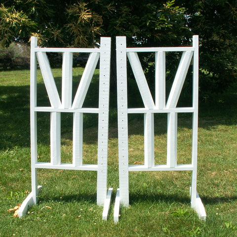 "6ft Top Double ""V"" Design Cut Rails Jumper Wing Standards Horse Jumps #254 - Platinum Jumps"