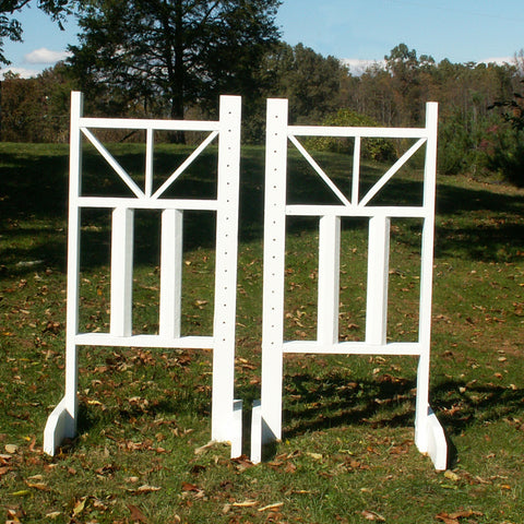 6ft Top Picket Triangle Cut Rail Bottom Jumper Wing Standards Horse Jumps #255 - Platinum Jumps
