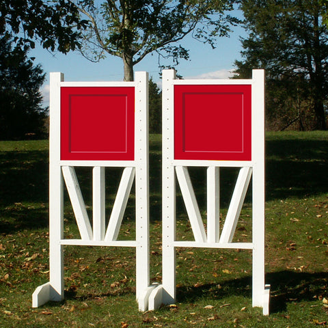 "6ft Solid Panel Top Triple Rail ""V"" Bottom Jumper Wing Standards Horse Jumps #257"