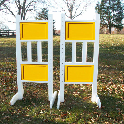 6ft Double Colored Solid Panels Jumper Wing Standards Horse Jumps #260 - Platinum Jumps