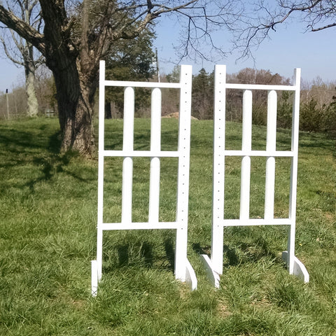 6ft Double Column Rails Jumper Wing Standards Horse Jumps #265