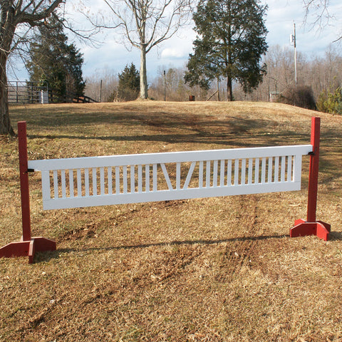 "Ladder Gate Center ""V"" Design Wood Horse Jumps - Platinum Jumps"