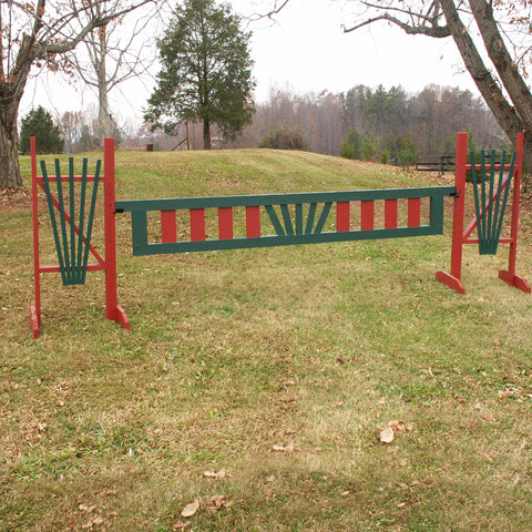Aztec Fan Ladder Gate Wood Horse Jump - Platinum Jumps
