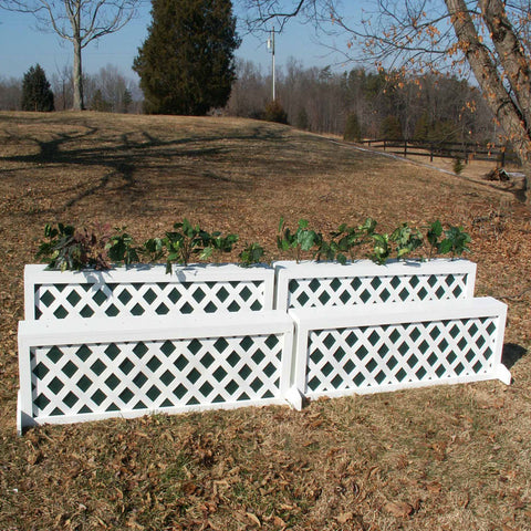 Lattice Panel Brush Box Horse Jumps Set/2 - Platinum Jumps