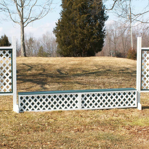 Lattice Panel Wall Wood Horse Jumps Set/2 - Platinum Jumps