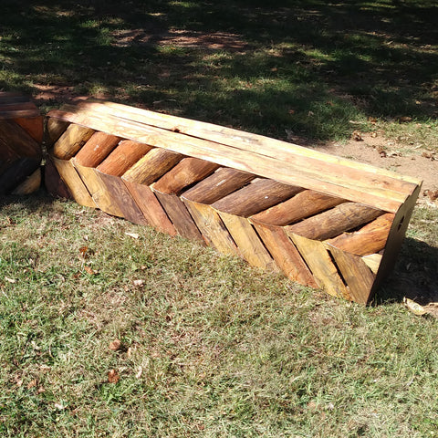 Natural Bark Arrow Wall Horse Jumps Set/2 - Platinum Jumps