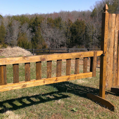 Natural Bark Panel Gate Wood Horse Jumps - Platinum Jumps