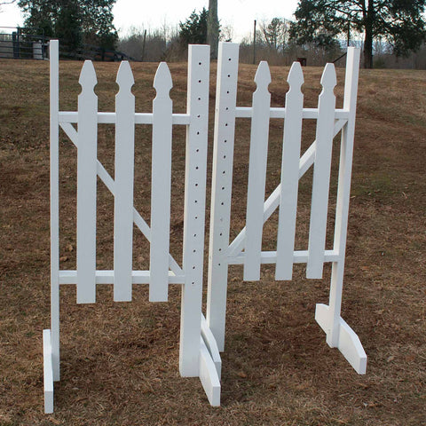 Picket Fence Wood Wing Standards Horse Jumps - Platinum Jumps