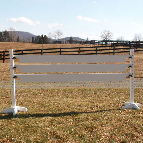 Set of 6 Solid Colored Plank Gates Wood Horse Jumps - Platinum Jumps