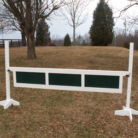 3 Panel Gate Wood Horse Jumps - Platinum Jumps