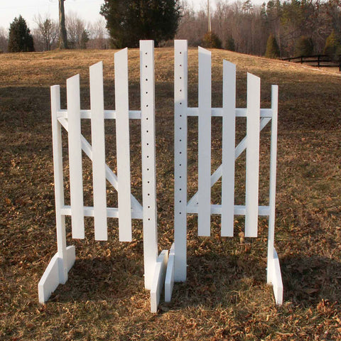 Slant Picket Wing Standards Wood Horse Jumps - Platinum Jumps