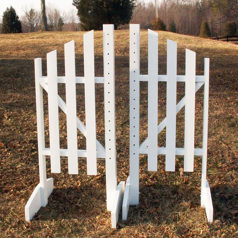 3 Panel Slant Wing Standards Wood Horse Jumps - Platinum Jumps