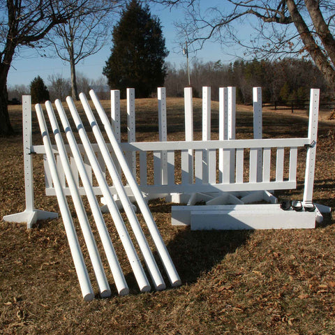 Econo Package Wood Horse Jumps 4ftx10ft - Platinum Jumps