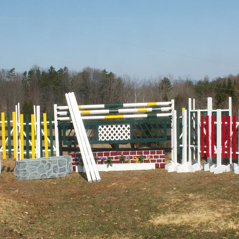 8 Jump Package Wood Horse Jumps 12ft - Platinum Jumps