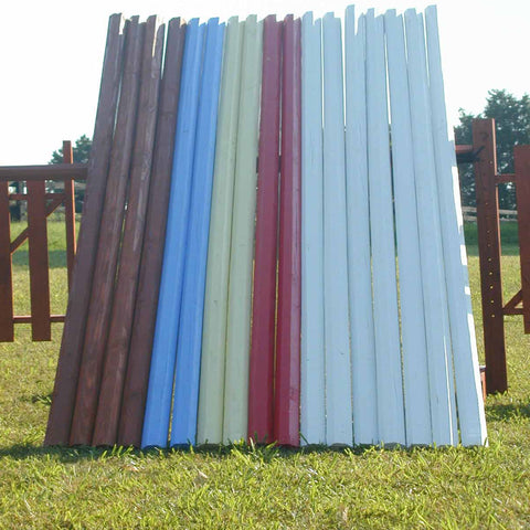 Solid Colored Octagonal Cut Rails/Poles Wood Horse Jumps Bundle/6 - Platinum Jumps
