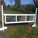 3 Panel Stone Pattern Gate Wood Horse Jumps - Platinum Jumps