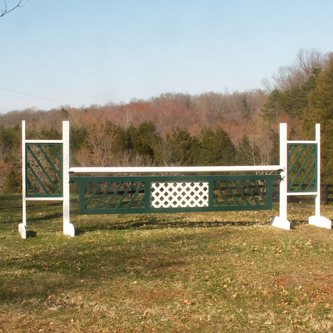 Slant Picket Wing Standards Horse Jumps #224