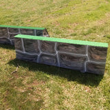 Stone Pattern Roll Top Horse Jumps Set/2 - Platinum Jumps