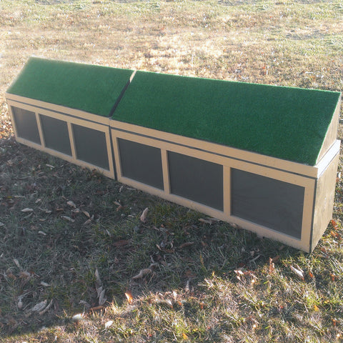 Stackable Turf Top Wall Horse Jumps Set/2 - Platinum Jumps