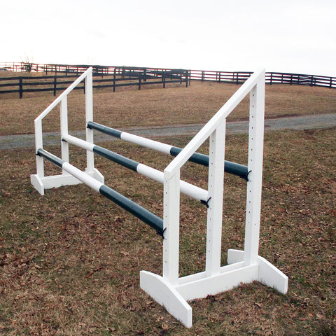 Triple Bar Standards Wood Horse Jumps - Platinum Jumps