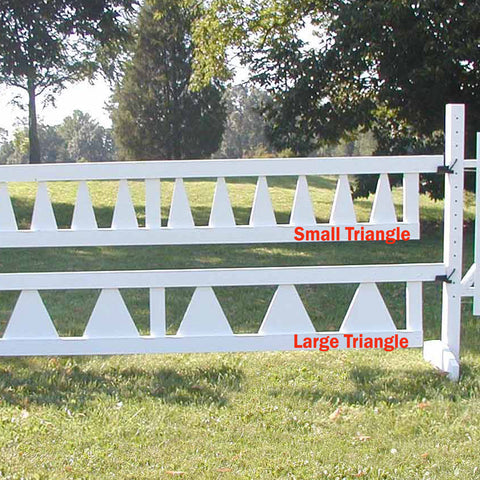Large Triangle Picket Gate Wood Horse Jumps - Platinum Jumps