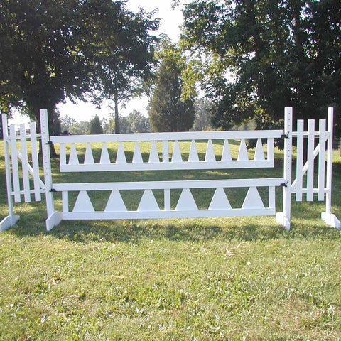 Small Triangle Picket Gate Wood Horse Jumps - Platinum Jumps