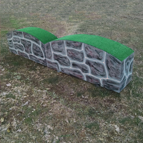 Turf Top Wall Horse Jumps Set/2 - Platinum Jumps