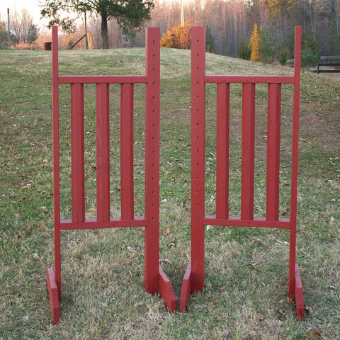 Vertical Rail Wood Wing Standards Horse Jumps - Platinum Jumps