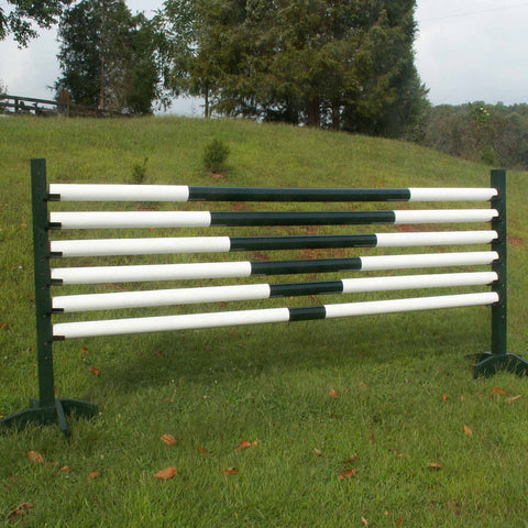 """V"" Design Set/6 Round Rails/Poles Wood Horse Jumps - Platinum Jumps"