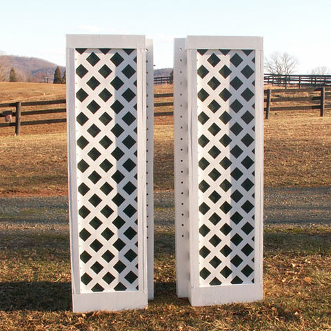 Lattice Column Standards Wood Horse Jumps 2 Heights - Platinum Jumps