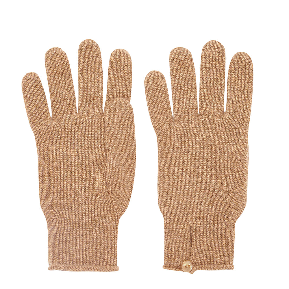 Cashmere Gloves - Camel
