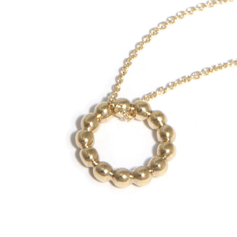 AMOC Bubble 9ct Yellow Gold Necklace