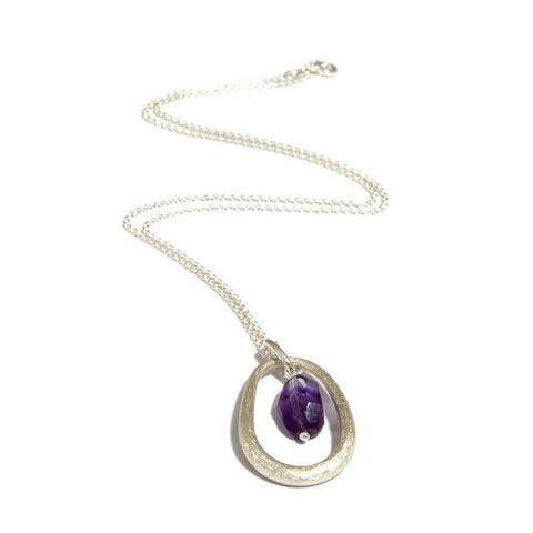 Contemporary necklace pearl necklace designyard jewellery amoc ellipse amethyst silver pendant aloadofball Image collections