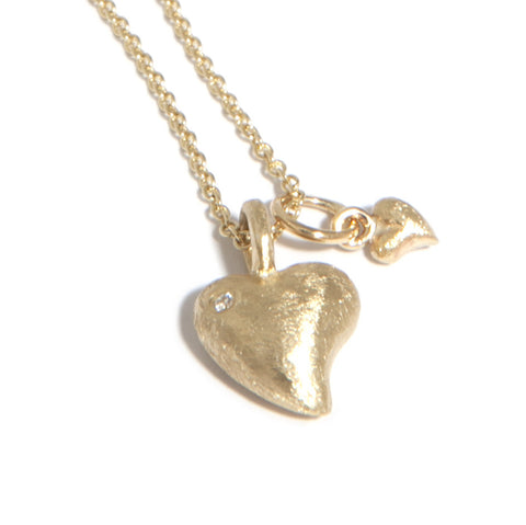 AMOC Mother And Child 9ct Yellow Gold Diamond Necklace