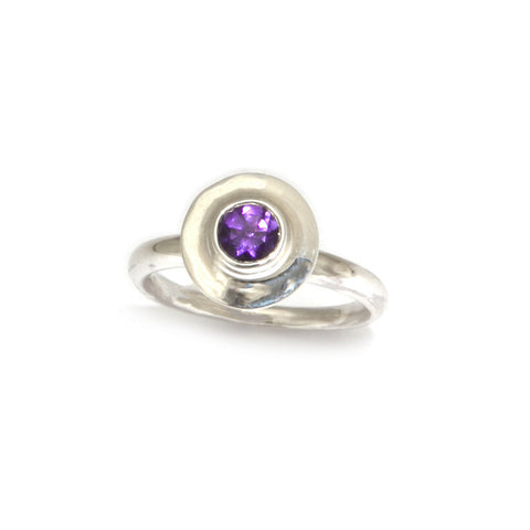 AMOC 'Ancient east' Amethyst Silver Ring