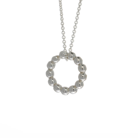 Amoc Bubble Silver Necklace